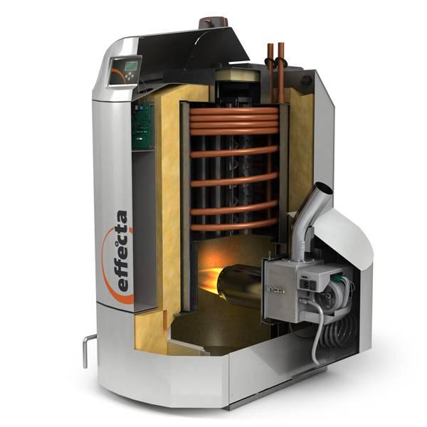 Caldera de pellets effecta komplett effecta bensal biomasa - Caldera mixta lena pellet ...